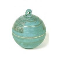 Mini urn keramiek bol lichtblauw