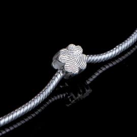 Klavervormige vingerafdruk bead - 0501-00