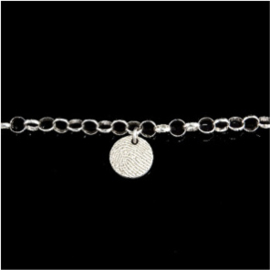 0326-00 Ronde vingerafdruk armband