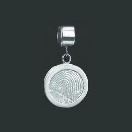 Ronde vingerafdruk bead - 0505-00
