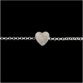 0323-00 Hart vingerafdruk armband