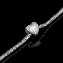 Hartvormige vingerafdruk bead - 0502-00