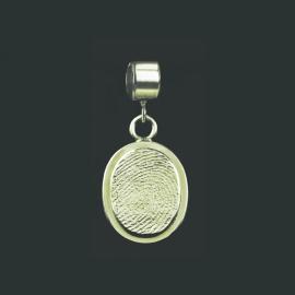 Ovale vingerafdruk bead - 0504-00