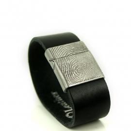 Armband met vingerafdruk met schuif slot - 0301-201