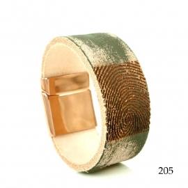 Armband met vingerafdruk met schuif slot - 0301-205