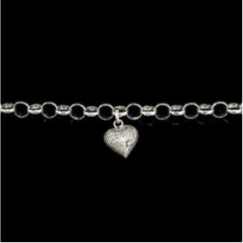 0327-01 Hart vingerafdruk armband