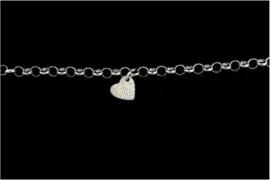 0325-00 Hart vingerafdruk armband