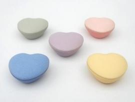 Asbewaardoosje Hartje (Standaard kleuren)