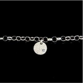0326-01 Ronde vingerafdruk armband