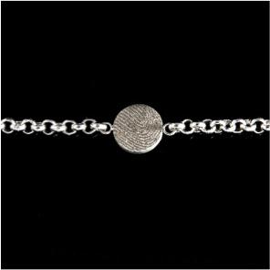 0324-00 Ronde vingerafdruk armband