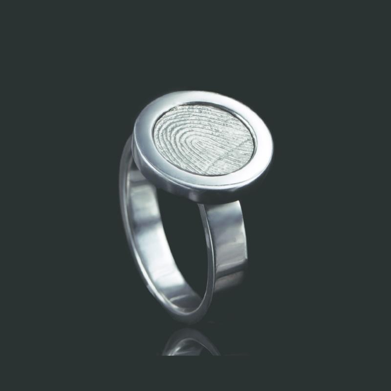 Ring met ronde afdruk - Z0113-00