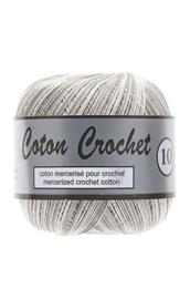 Coton Crochet  Multi 10 - 446 Grijs/wit