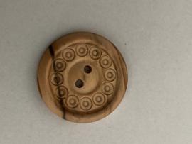Houten knoop -3051 40/25mm