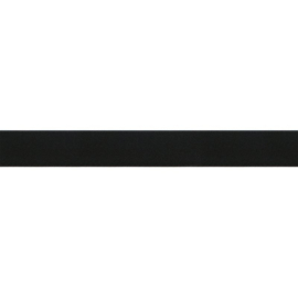 Satijnlint  zwart dubbelzijdig 25mm