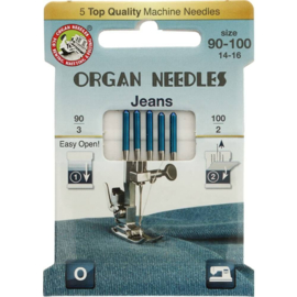 Organ needles Eco-pack jeans 90-100
