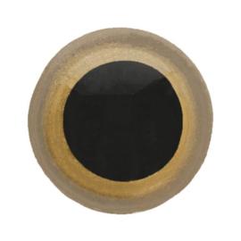 veiligheidsoogjes  goud zwart 6mm