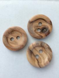 Houten knopen 36/23 mm