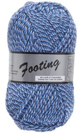 Footing nr 12 Blauw/Wit