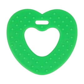 Bijtring  Hart Groen met noppen