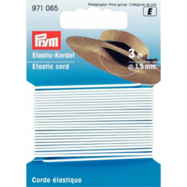 prym koord Elastiek 1.5 mm wit 3 meter