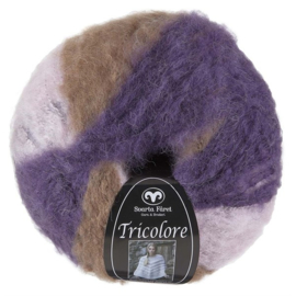 Tricolore  Paars/Lila/Beige