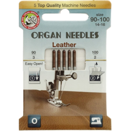 Organ Needles eco-pack  leather 90-100