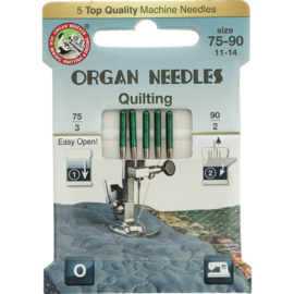 organ needles  eco-pack quilting 75-90