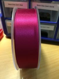 Satijnlint donker Roze dubbelzijdig 25mm
