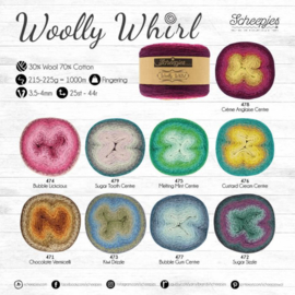 woolly whirl  kleuren