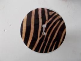 porselein knoop 4,2 cm zeebra