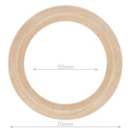 Houten ringen buiten maat 70mm