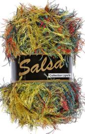 Lammy yarns salsa klnr 613 geel-blauw-groen-oranje