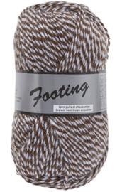 Footing 009 Bruin/Wit