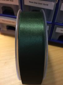 Satijnlint  oud groen dubbelzijdig 25mm