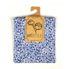 restyle  stofjes blauw bloemetje