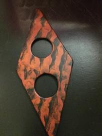 sjaalspeld  rood zwart Sep 90 mm kl 30