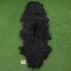 Black Icelandic sheep rug (Duo) 210 x 70