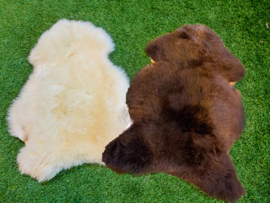 SALE: White and/or brown short-haired lambskin