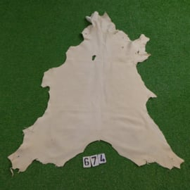 Red deer leather (white) 1.00 m²