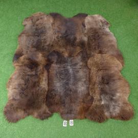 Brown short-haired sheepskin rug (Hexa) 190 x 175
