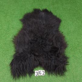 Zwarte IJslandse schapenvacht (120 x 80)