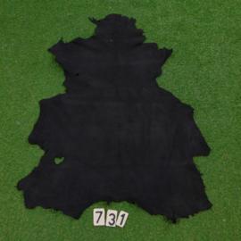 Fallow deer leather (black) 0.85 m²