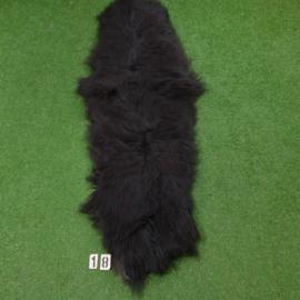 Black Icelandic sheep rug (Duo) 215 x 70