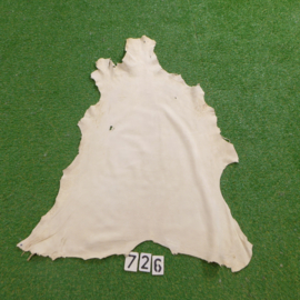 Fallow deer leather (white) 0.89 m²