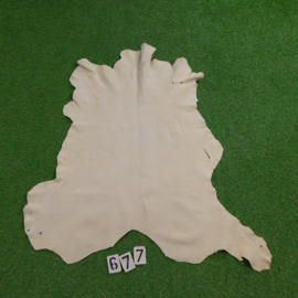 Red deer leather (white) 0.97 m²