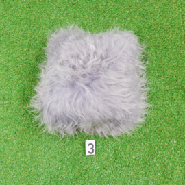 Grey cushion Icelandic sheepskin