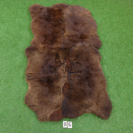 Brown short-haired sheep rug (Quattro) 190 x 105