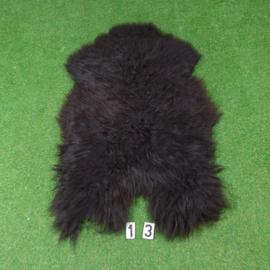 Zwarte IJslandse schapenvacht (120 x 70)