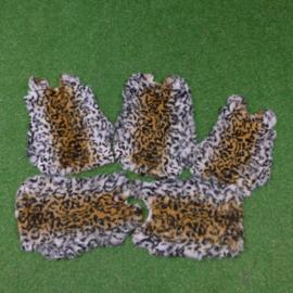 Tijgerprint konijnenvachten (40-45  cm)