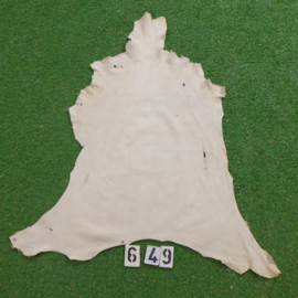 Fallow deer leather (white) 0.69 m²